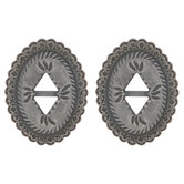 Wispy Oval Slotted Conchos