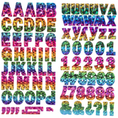 Iridescent Rainbow Foil Alphabet Stickers