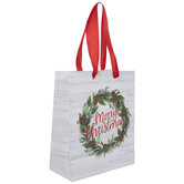 Merry Christmas Wreath Gift Bag