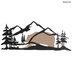 Mountain Bear Silhouette Metal Wall Decor