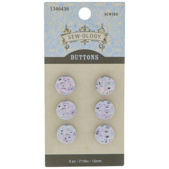 Silver Hammered Shank Buttons