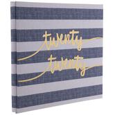 "Twenty Twenty Striped Post Bound Scrapbook Album - 12"" x 12"""