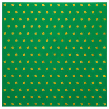 "Gold Foil Clover Scrapbook Paper - 12"" x 12"""