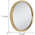 Gold Round Metal Wall Mirror