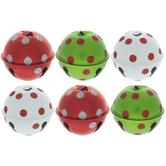 Red & Green Polka Dot Jingle Bells