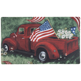 Red Truck & American Flag Doormat