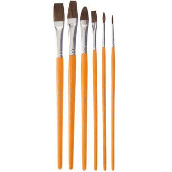 Camel Paint Brushes - 6 Piece Set
