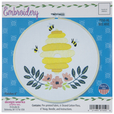 Bee Hive Embroidery Kit