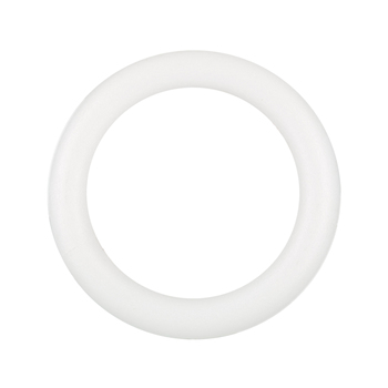 "White Extruded Foam Wreath - 14"""