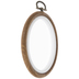 Faux Wood Oval Embroidery Hoops