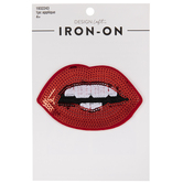 Sequin Lips Iron-On Applique