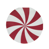 Round Peppermint Paper Napkins - Large