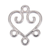 Wire Heart Swirls - 18mm