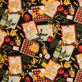 The Chef's Choice Cotton Calico Fabric