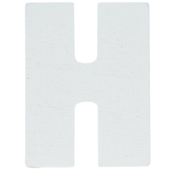 """White Wood Letters H - 2"""""""
