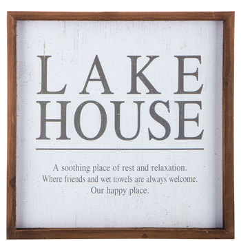 Lake House Wood Wall Decor