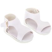 White Gladiator Sandal Doll Shoes