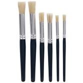 Round Stencil Paint Brushes - 6 Piece Set