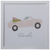 Let's Roll Car Framed Wall Decor