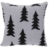 White & Black Christmas Tree Pillow