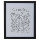 John 1:16 Floral Framed Wall Decor