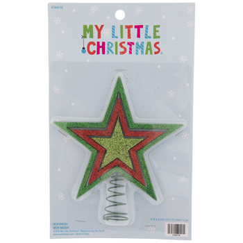 Light Green Glitter Star Mini Tree Topper