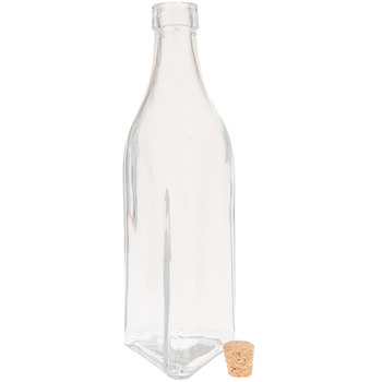 Triangle-Shaped Glass Bottle