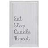 Eat Sleep Cuddle Repeat Wood Wall Decor