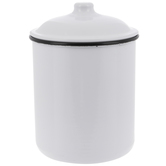 White Metal Canister