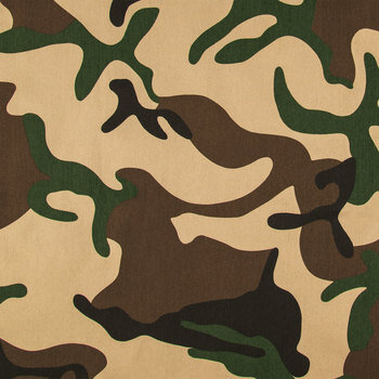 Green Camouflage Twill Fabric