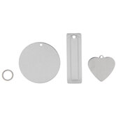Heart, Rectangle & Circle Charm Stamping Blanks