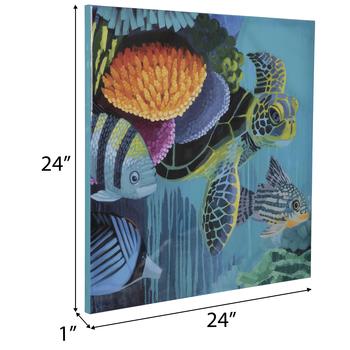 Ocean Life Glossy Canvas Wall Decor