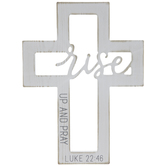 Luke 22:46 Cutout Wood Wall Cross