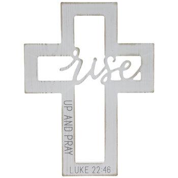 Luke 22:46 Cutout Wood Wall Cross