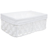 White Paperloom Basket