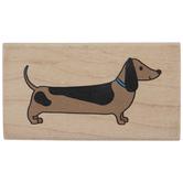 Dachshund Dog Rubber Stamp