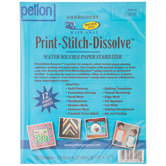 Print-Stitch-Dissolve Water Soluble Paper Stabilizer