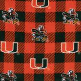 Miami Allover Collegiate Fleece Fabric