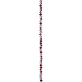 Gray & Purple Gemcut Glass Bead Strand - 4mm x 6mm