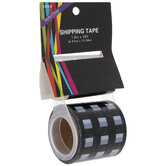 Black & White Buffalo Check Shipping Tape