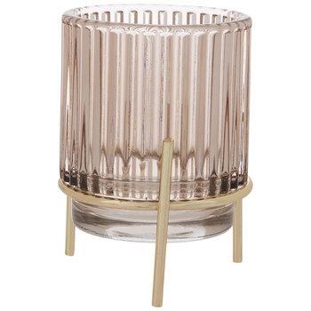 Mauve Hurricane Glass Candle Holder