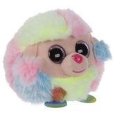 Rainbow Poodle Beanie Puffy