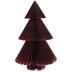 Maroon Glitter Trim Honeycomb Tree
