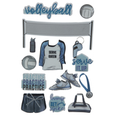 Volleyball 3D Stickers