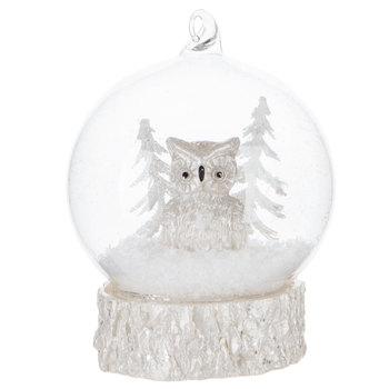 Owl LED Globe Ornament