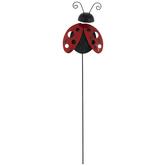 Ladybug Metal Garden Pick