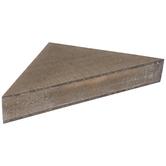 Brown Triangle Corner Wood Wall Shelf