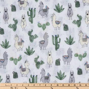 Cozy Llamas Gauze Fabric