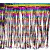 Rainbow Foil Table Skirt