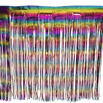 Rainbow Foil Table Skirt